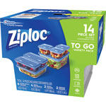 Ziploc® Container, Variety, 7/PK, Clear