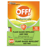 OFF! Botanicals Insect Repellant, Box, 10 Wipes/Pack, 8 Packs/Carton