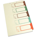S And J Paper / Gussco Table of Contents 1/5 Cut Sheet Dividers, Write-On, Assorted Colors