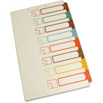S And J Paper / Gussco Table of Contents 1/8 Cut Sheet Dividers, Write-On, Assorted Colors