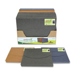 "SJ Paper® Tuck-N-Lock Carry All, Ltr, 9-1/2""12"", 1.5"" Exp, CL/GR/IO"