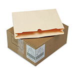 "S And J Paper / Gussco Manila Recycled File Jackets, Reinforced Top, 2"" Exp., Letter, 50/Carton"