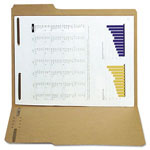 S And J Paper / Gussco Kraft Reinforced Folders with 2 Fasteners, Letter, 1/3 Cut Assorted, 50/Box