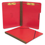 S And J Paper / Gussco Pressboard Folios with 2 Fasteners & Elastic Closure, Letter, Executive Red, 15/Box