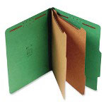S And J Paper / Gussco Standard Classification Folder, 6 Section, 2 1/4 Exp., Ltr, 15/BX, Emerald Green