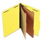 S And J Paper / Gussco Standard Classification Folder, 6 Section, 2 1/4 Exp., Ltr, 15/BX, Bright Yellow