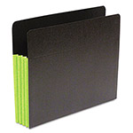 SJ Paper® Fusion Pocket, Ltr, 3.5 Exp, 23 Pt Stock, 25/BX, Green