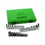 "S K Hand Tools 35 Piece 1/4 & 3/8 & 1/2"" Drive Torx Socket Set"
