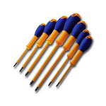S K Hand Tools 7 Piece 1000V Insulated Expert 2 Combination Screwdriver Set
