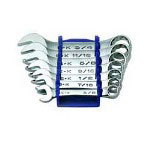 S K Hand Tools 7 Piece SuperKrome SAE Short Combination Wrench Set