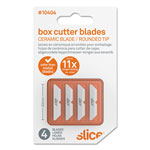 slice® Safety Box Cutter Blades, Rounded Tip, Ceramic Zirconium Oxide, 4/Pack