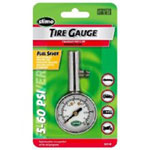 Slime Round Dial Head Tire Gauge, 5 to 60 PSI, with Bleeder Valve, Carded