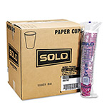 Solo 12 Oz Hot Paper Cups, Bistro Design, Case of 1000