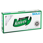 Solo Mediumweight Plastic Cutlery, Knives, White, 7 in, 500/Carton