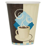 Solo Duo Shield Insulated Paper Hot Cups, Paper, 8 oz., Tuscan Design, 1000/Carton