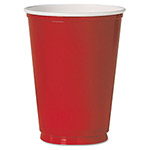 Solo Plastic Party Cold Cups, 12 oz., Red, 50/Pack