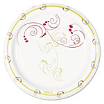 "Solo Disposable 6"" Paper Plates, Symphony Design, Pack of 8"