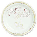 "Solo Disposable 8.5"" Paper Plates, Nature Design, Carton of 500"