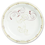 "Solo Disposable 8.5"" Paper Plates, Nature Design, Pack of 125"