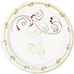 "Solo Design Disposable 9"" Paper Plates, Nature Design, Case of 1,000"