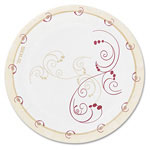 "Solo Design Disposable 6"" Paper Plates, Nature Design, Pack of 50"