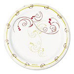"Solo Design Disposable 6"" Paper Plates, Nature Design, Case of 1,000"