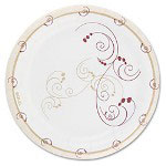 "Solo Design Disposable 7"" Paper Plates, Nature Design, Pack of 250"