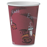 Solo 12 Oz Hot Paper Cups, Bistro Design, Pack of 300
