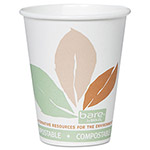 Solo 8 Oz Hot Paper Cups, Leaf Design, Pack of 500