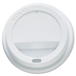 Solo Drink-Thru Lid, White, 300/Carton