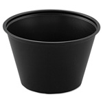 Solo 4 Oz Polystyrene Portion Cups, Black