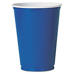 Solo Plastic Party Cold Cups, 10 oz., Blue, 50/Pack