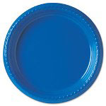 "Solo Disposable 9"" Plastic Plates, Blue, Carton of 800"