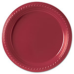 "Solo Disposable 9"" Plastic Plates, Red, Carton of 800"
