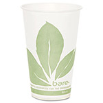 Solo Paper Cold Cup, Bare Design, 12 oz, 100 per Pack