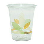 Solo Bare RPET Cold Cups, Clear With Leaf Design, 12oz, 1000/Carton