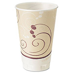 Solo Foam Hot/Cold Cups Drink Cups, 20-oz., Beige