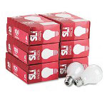Supreme Lighting Incandescent Light Bulbs, General Purpose, Soft White, 100 Watt, 120V, 24/Ct