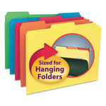 "Smead Recycled Interior File Folders, 3/4"" Capacity, Letter, 1/3 Cut, Assorted, 100/Bx"