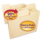 Smead SuperTab Heavyweight Folder, Manila, 1/3 Cut, Letter, 50/BX