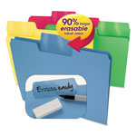 Smead Erasable SuperTab File Folders, Letter, Assorted Colors, 24/Set