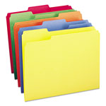 Smead File Folders, Single Ply Top, 1/3 Cut, Assorted Bright Colors, Letter, 100/Box