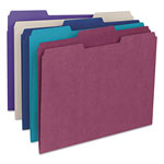 Smead File Folders, Single Ply Top, 1/3 Cut, Assorted Deep Colors, Letter, 100/Box