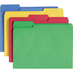Smead Cutless® Folders, Letter, 1/3 Cut, Assorted