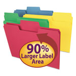Smead Colored File Folders, 1/3 Cut, 11 Point Stock, Letter, Assorted