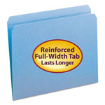 Blumberg's Law Products Top Tab File Folders, Double Ply Top, Straight Cut, Letter, Blue, 100/Box