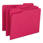 Smead File Folders, Single Ply Top, 1/3 Cut, Letter, Red, 100/Box