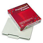 Smead Pressboard File Folders, Top Tab, Letter, 2/5 Cut, Gray Green, 25/Box