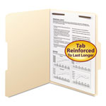 "Smead Manila Folders with One 2"" Capacity Fastener, Letter, 1/3 Cut Asstd, 50/Box"