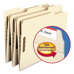 Smead Recycled Manila Two Ply Top Tab File Folders with Fasteners, Letter Size